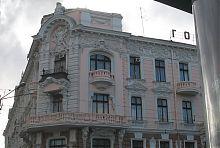 """Ризалит центрального входа одесской гостиницы """"Пассаж"""""""