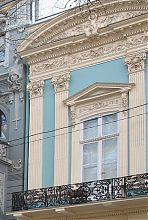 Угловой ризалит дворца Абазы в Одессе