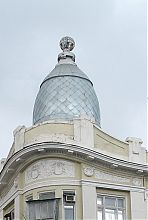 Завершення ризалита будинку Скаржинської в Одесі