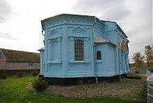 Гранована апсида церкви Різдва Богородиці в селі Новопилипівка