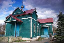 Свято-Вознесенский деревянный храм в Новотроицком