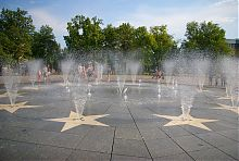 Пешеходный фонтан сквера у Драмтеатра в Мариуполе
