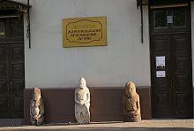 Половецкие каменные идолы Мариупольского краеведческого музея