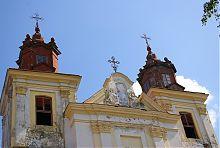 Вежі костелу Святої Трійці домініканського монастиря в Богородчанах