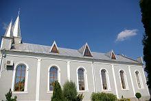 Південний фасад лютеранської кірхи в Дунаївцях