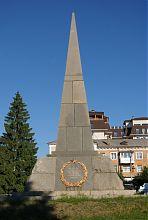 Пам'ятник загиблим у Другій світовій війні на Алеї Слави Умані