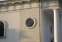 """Південне вікно-""""троянда"""" костелу Успіння пресвятої Богородиці"""