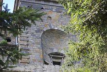 Ніша з балконом паркового фасаду палацу
