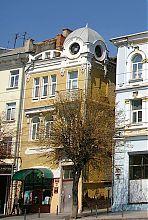Центральний фасад готелю Ф. Райхера в Вінниці