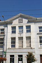 Центральний ризаліт головного фасаду вінницької синагоги