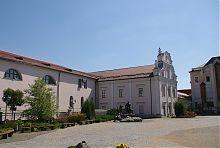 Пам'ятник Шевченко у дворі єзуїтського монастиря Вінници