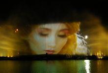 Голограма фонтану ROSHEN