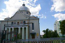Центральний фасад Івано-Богословської церкви Богородчан