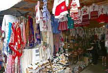Торгівельні ряди Сувенірного ринку в Яремче