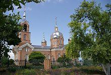 Південний фасад церкви Володимирської ікони Богородиці в Нововасилівці