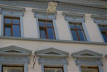 Декор бокового фасаду Буковинського медіа-центру