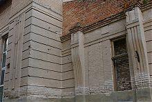 Декор парадного фасаду молочанської менонітської кредитної спілки