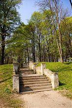Главная лестница парка Вишневецкого замка