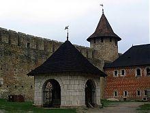 Внутрішній двір фортеці в Хотіне