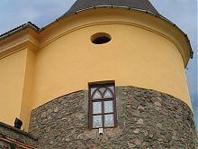 Витраж башни Федора Кориатовича мукачевского замка Паланок