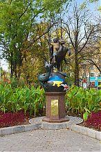 Георгий Победоносец в донецком Парке кованых скульптур