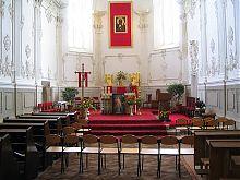 Вівтар костьолу Домініканського монастиря святого Миколая Кам'янець-Подільського