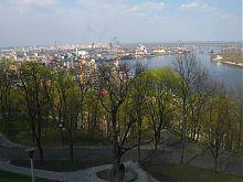 Вид з вершини парку Володимирська гірка в Києві