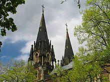 Шпили костела святой Эльжбеты (святых Ольги и Елизаветы) во Львове