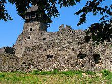 Башта-донжон замку в Невицькому  на Закарпатті