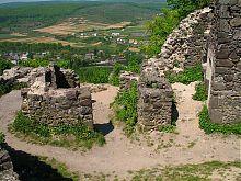 Руїни північної частини замку в Невицькому на Закарпатті