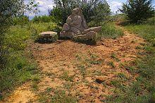 Козак на привалі ландшафтного парку Клебан-Бик в Олександро-Калинове