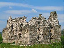 Северный угол Середнянского замка