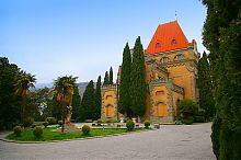 Южный фасад дворца княгини Гагариной в пос. Утес