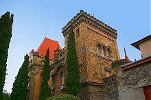 Північно-східний фасад палацу княгині Гагаріної в сел. Утьос