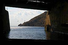 Южный выход из балаклавского музея подводных лодок