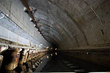 Главный туннель музея подводных лодок в Балаклаве