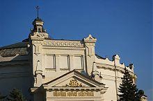 Фронтон центрального фасаду панорами Оборона Севастополя на Історичному бульварі