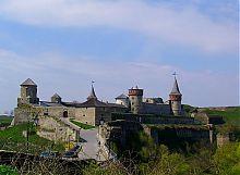Вид на Каменец - Подольскую крепость с северо-востока