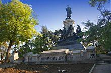 Центральный фасад памятника Э.И. Тотлебену на Историческом бульваре Севастополя