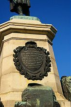 Эпитафия на памятнике Э.И. Тотлебену на Историческом бульваре